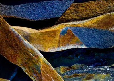 Cheryl Hassen - Tapestry In Blue and Gold (Fine Art Photography; Rock Artistry)